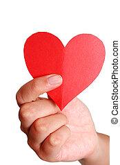 coeur, main