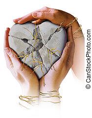 coeur, mains