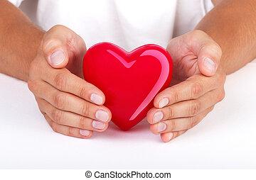 coeur, mains, protéger