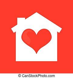 coeur, maison, conception