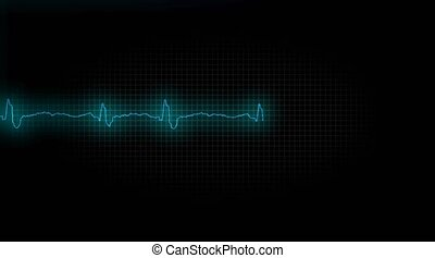 coeur, malade, attask., cardiogramme