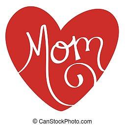 coeur, maman, rouges