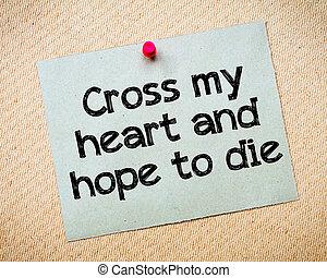 coeur, mon, croix, espoir, mourir