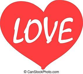 coeur, mot, amour