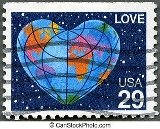 """coeur, mot, formulaire, usa, -, 1991:, la terre, """"love"""", spectacles"""