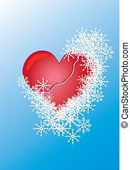 coeur, neige