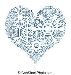 coeur, neigeux