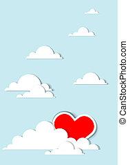 coeur, nuages