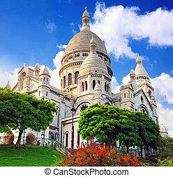 coeur, parís, catedral, sacre, montmartre