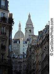 coeur, parís, francia, basilique, montmartre, sacre