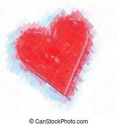 coeur, peinture