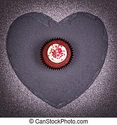 coeur, petit gâteau