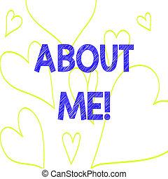 coeur, photo, me., signe, quelqu'un, ton, dehors, modèle, ...