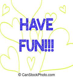 coeur, photo, signe, agréable, quelque chose, avoir, fun., ...