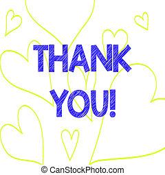 coeur, photo, signe, dehors, remercier, service, modèle, ...
