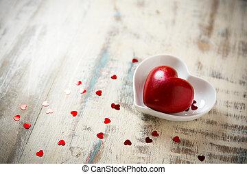coeur, pierre, rouges