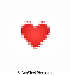 coeur, pixel