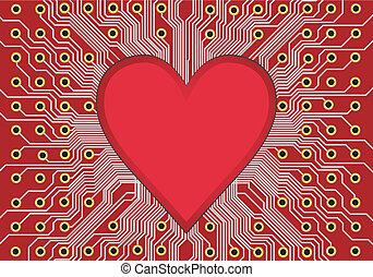 coeur, planche, circuit
