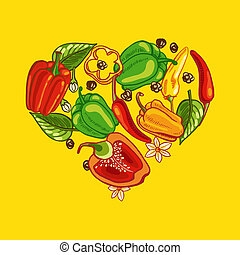 coeur, poivre