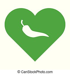 coeur, poivre piment