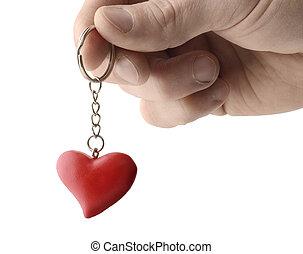 coeur, porte-clés