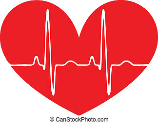 coeur, pouls, rouges