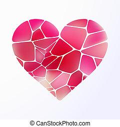 coeur, purple., 10, lumière, eps, rouges