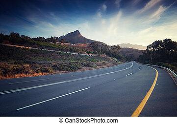 coeur, région, croissant, afri, stellenbosch, sud, vin