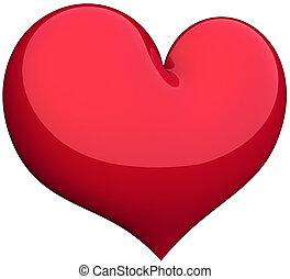 coeur, résumé, amour, symbole.