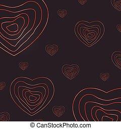 coeur, résumé, jour, fond, valentin