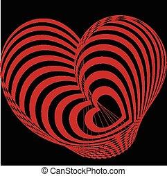 coeur, résumé, rouges