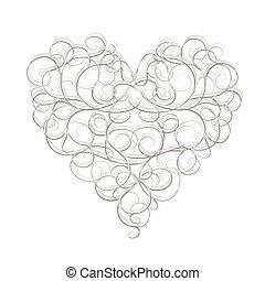 coeur, résumé, ton, conception, forme