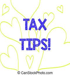 coeur, revenu, photo, impôt, signe, tips., levied, dehors, ...