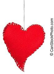 coeur rouge, blanc