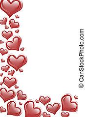 coeur rouge, fond