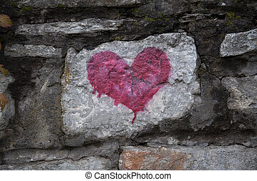 backgr coeur amour mur symbole ciment signe drapeau clipart recherchez. Black Bedroom Furniture Sets. Home Design Ideas