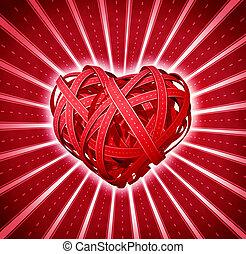 coeur, route, valentin