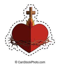 coeur, sacré, jésus
