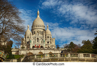 coeur sacre, basilica, in, parigi