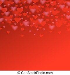 coeur, saint-valentin, conception, fond, vacances, ton, rouges