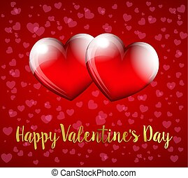 coeur, saint-valentin, fond, cœurs, heureux