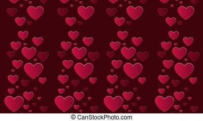 coeur, salutation, valentin, faire boucle, animation, jour