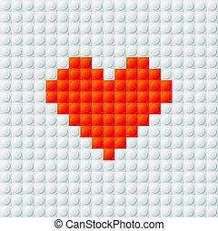 coeur, seamless, fond, constructeur