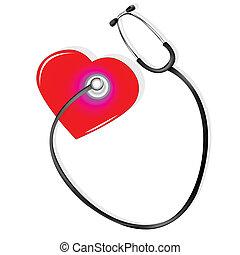 coeur, stéthoscope