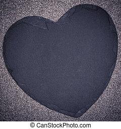 coeur, sur, espace, texte, ardoise, tacheté, fond, ton