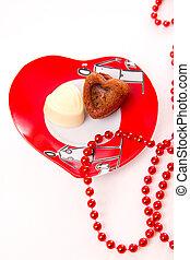 coeur, sur, jour valentine