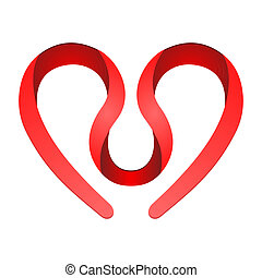 coeur, symbole, rouges