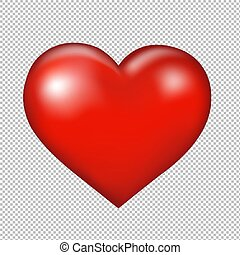 coeur, symbole, transparent, fond, rouges