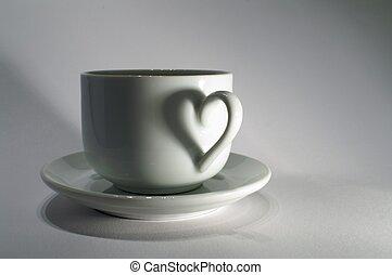 coeur, tasse