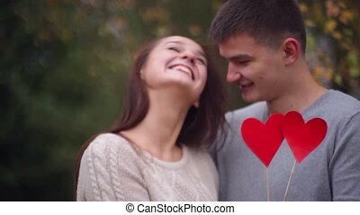 coeur, tenue femme, homme